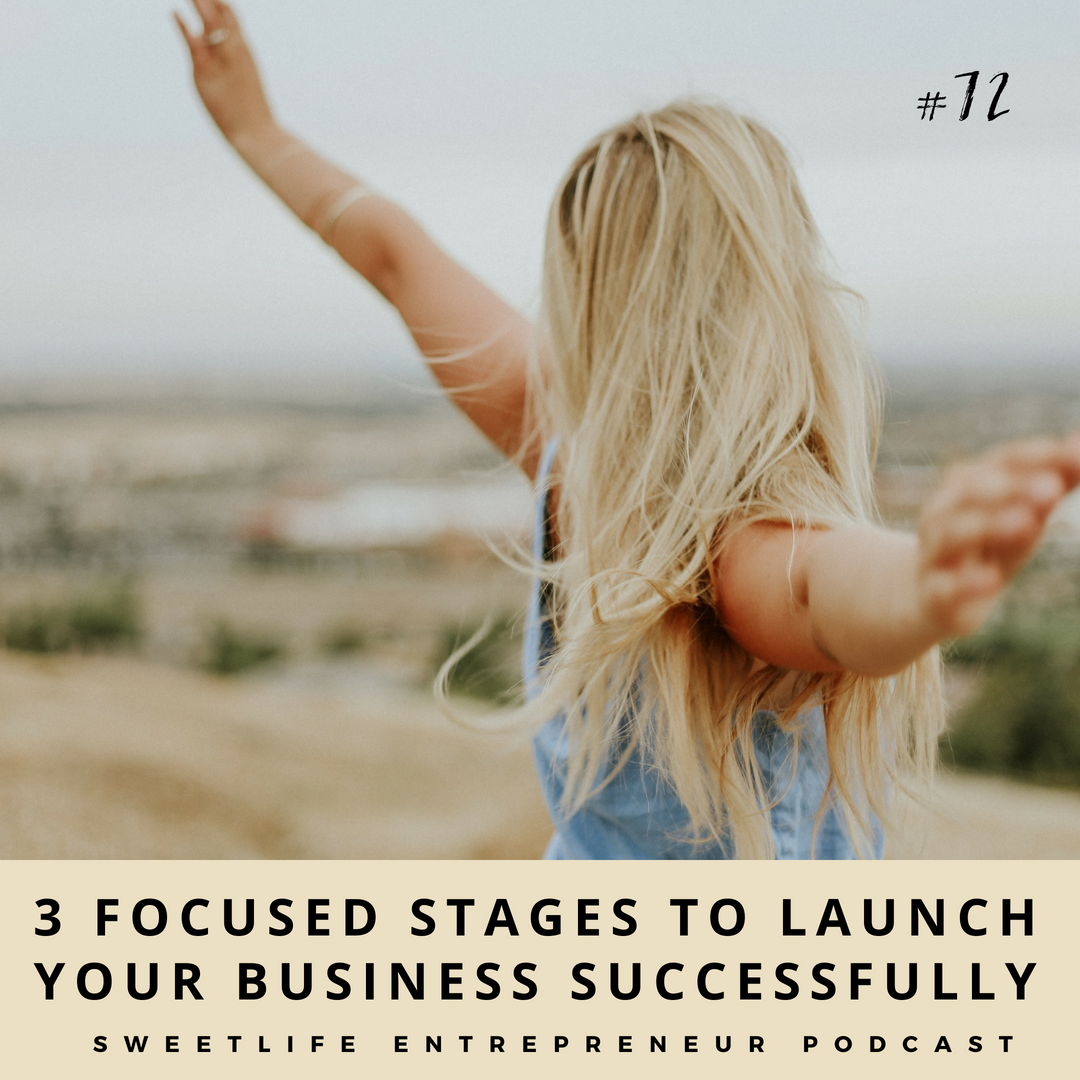 Episode 72: 3 Focused Stages to Launch Your Business Successfully – April Beach