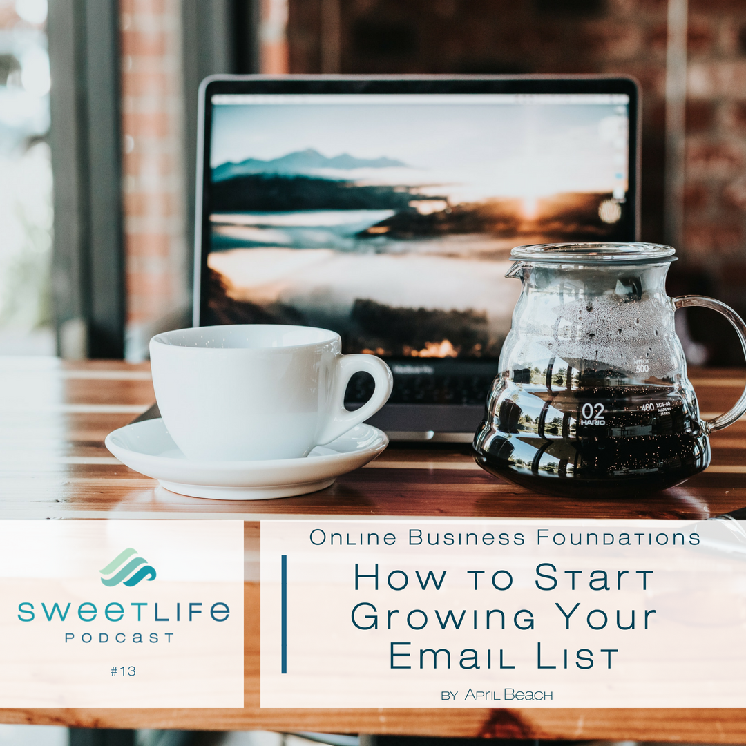 Episode 13: Online Business Foundations – How To Start Growing Your Email List