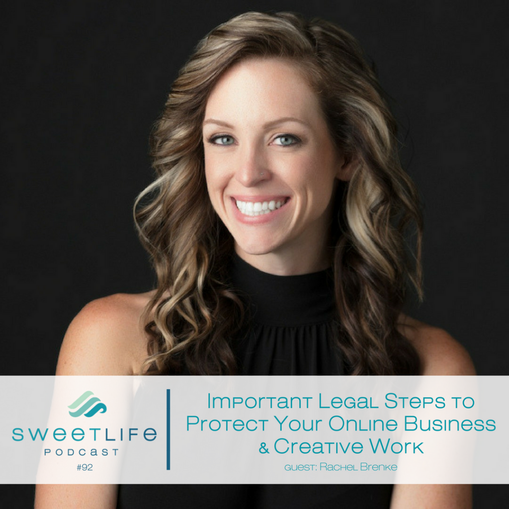 Rachel Brenke SweetLife Entrepreneur Podcast April Beach