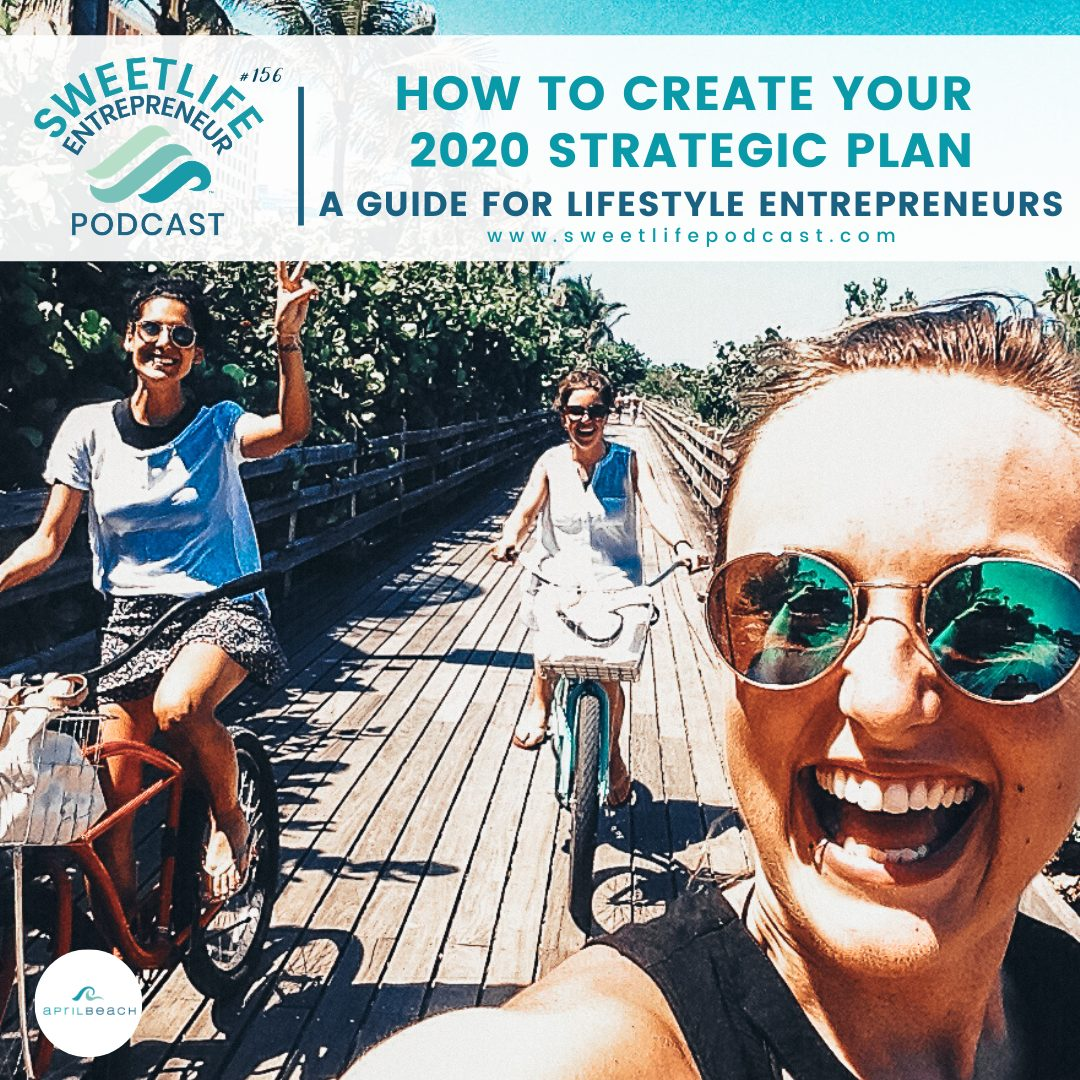 Episode 156: How To Create Your 2020 Strategic Plan: A Guide For Lifestyle Entrepreneurs – with April Beach