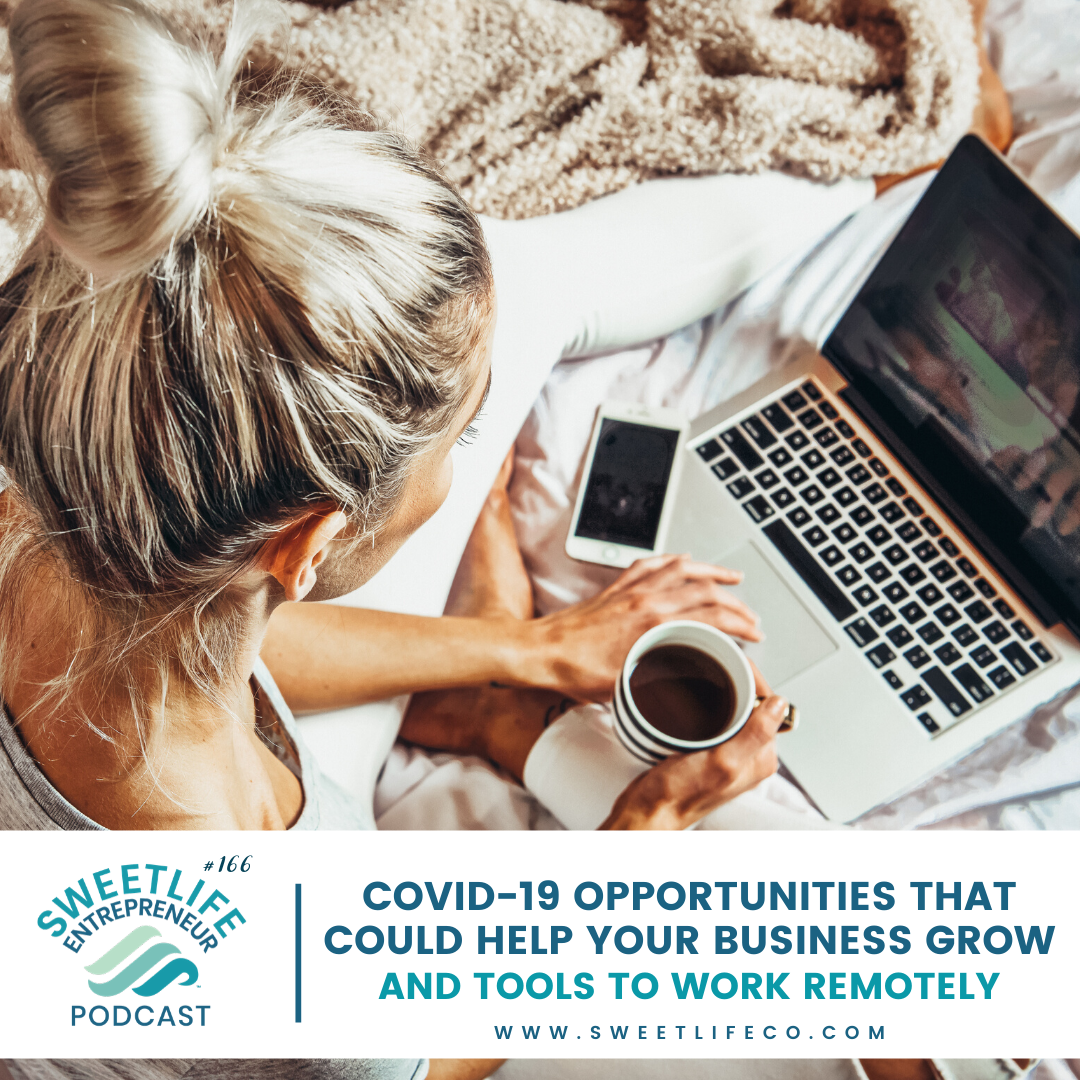 Episode 166: COVID-19 (Coronavirus) Business Opportunities and Tools To Work Remotely – with April Beach