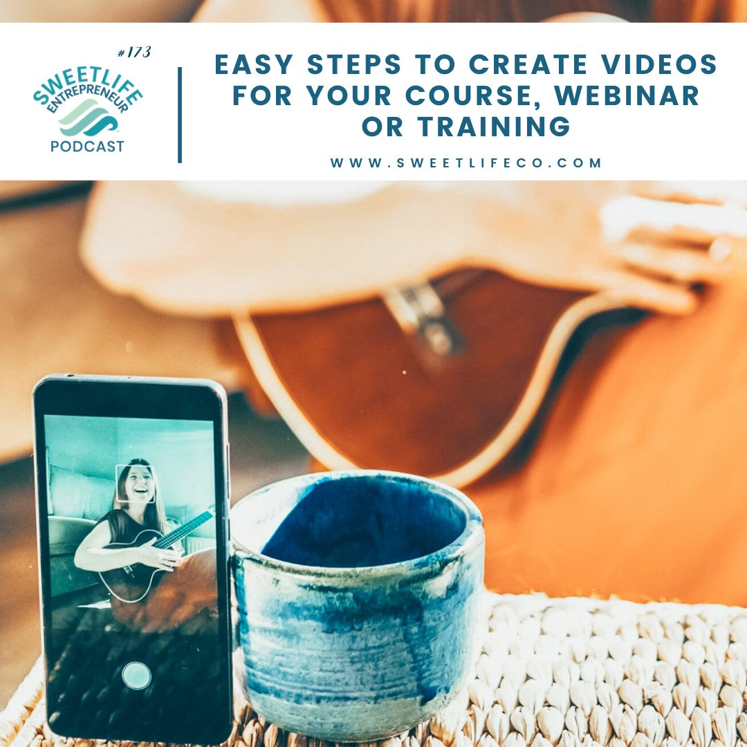 Episode 173: Easy Steps To Create Videos For Your Course, Webinar or Training
