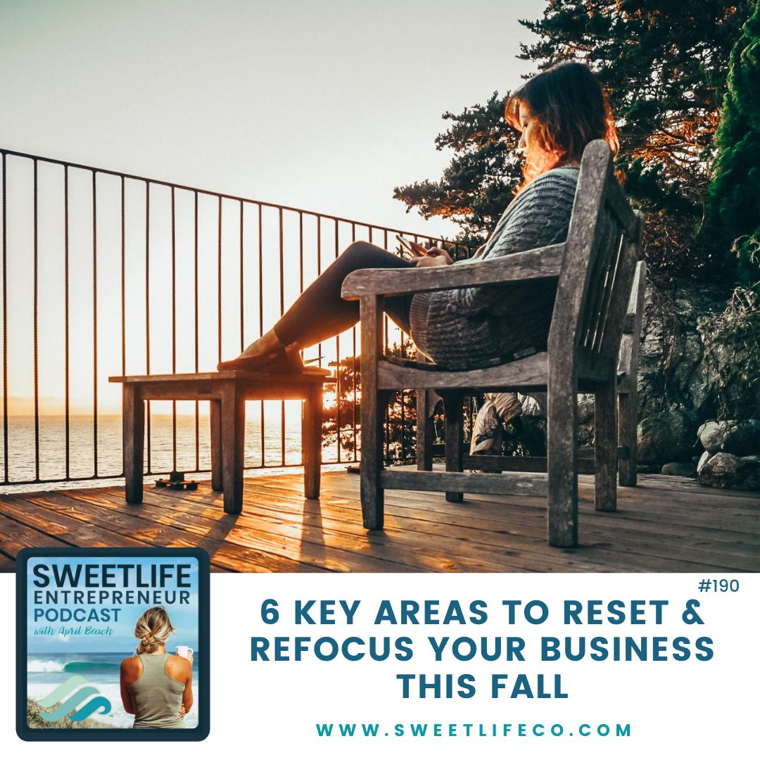 Episode 190: 6 Key Areas To Reset and Refocus Your Business This Fall – Part 1 – with April Beach