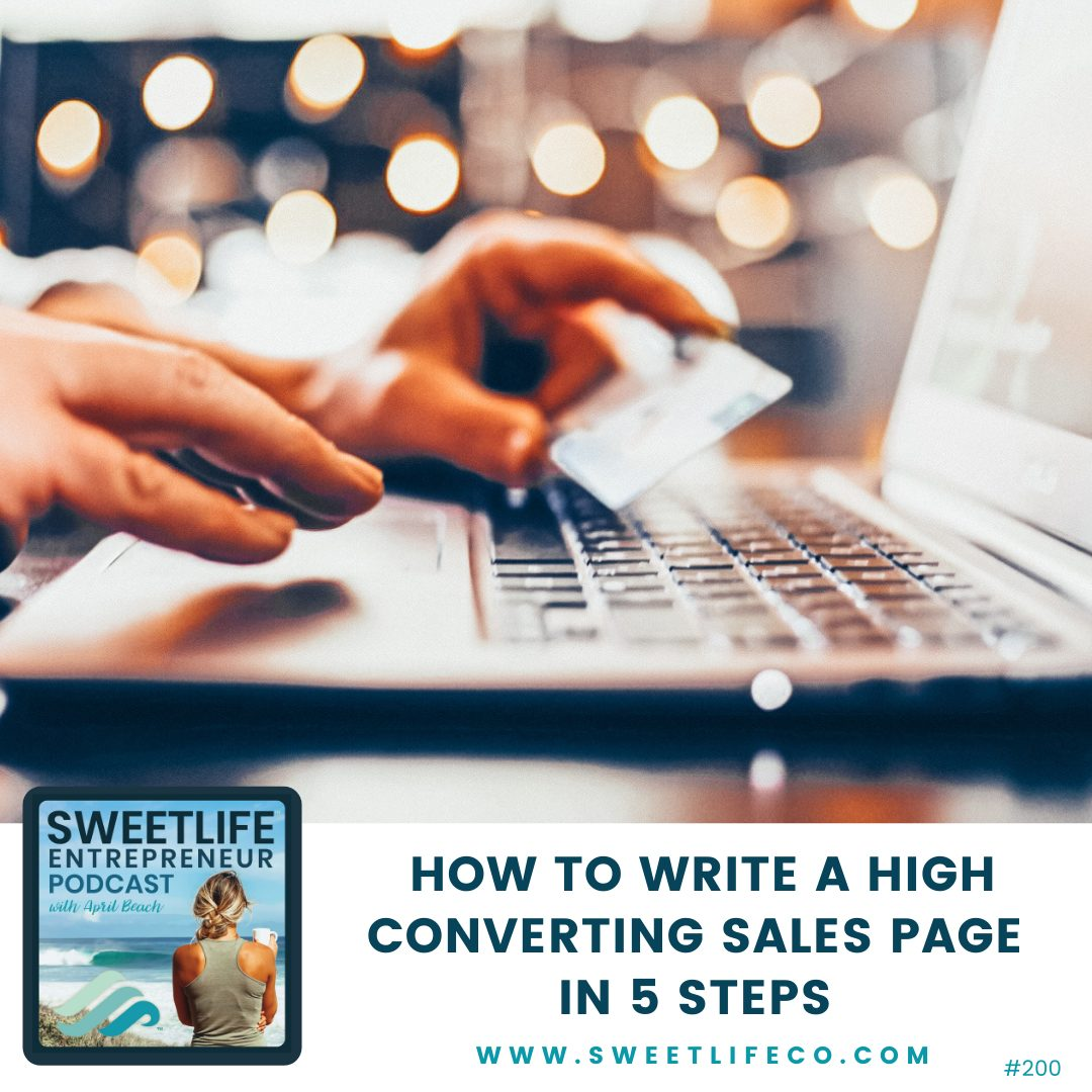 Episode 200: How To Write A High Converting Sales Page In 5 Steps – Amisha Shrimanker