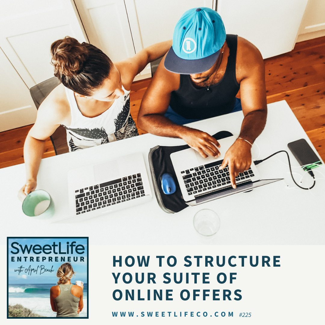 Episode 225: How To Structure Your Suite Of Online Offers – with April Beach