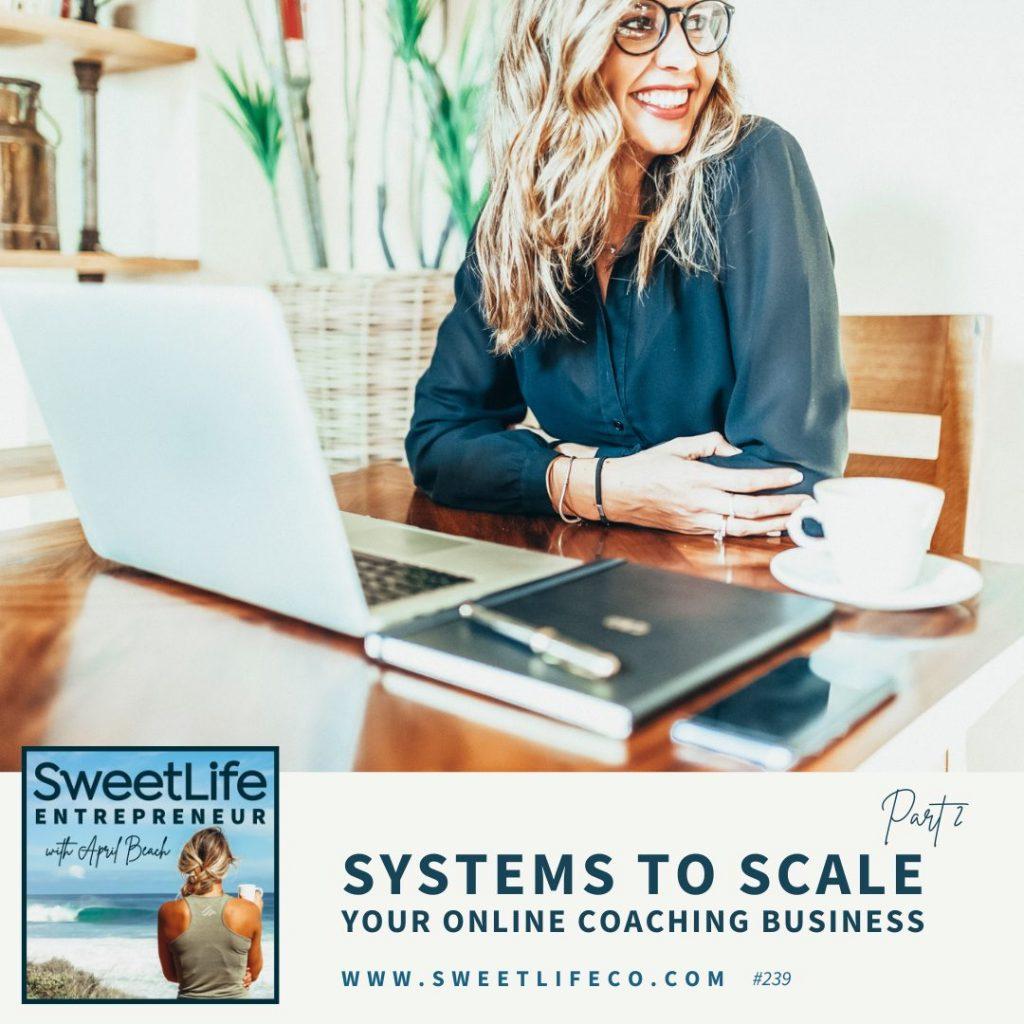 Rachel Cook SweetLife Entrepreneur Podcast April Beach